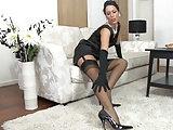 Lange Beine in Nylons