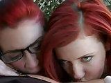 Zwei Rothaarige und eine Blondine im Lesben-Dreier